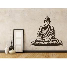 Samolepka na zeď Sedící Budha 1296
