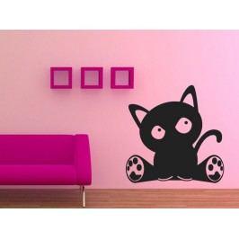 Samolepka na zeď Kočka 002