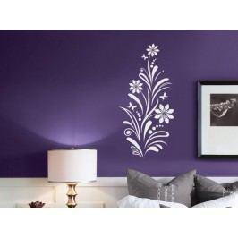 Samolepka na zeď Květiny s motýly 006