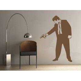 Samolepka na zeď Muž s pistolí 001