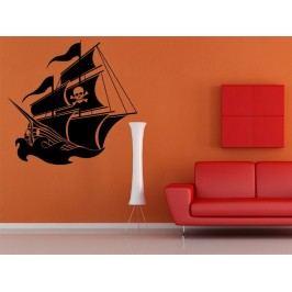 Samolepka na zeď Pirátská loď 001