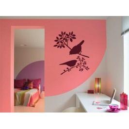 Samolepka na zeď Ptáci na větvích 001