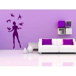 Samolepka na zeď Žonglující žena 001