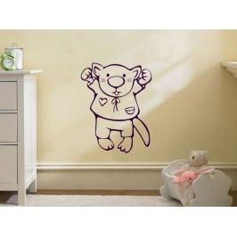 Samolepka na zeď Kočička 001