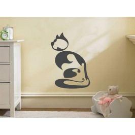 Samolepka na zeď Kočička 003