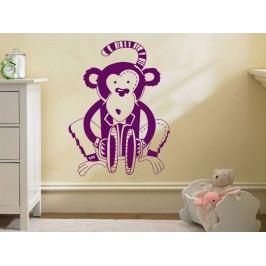 Samolepka na zeď Opička 004