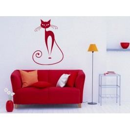 Samolepka na zeď Kočka 007