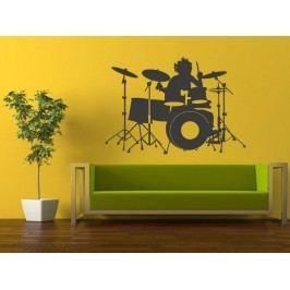 Samolepka na zeď Bubeník 001