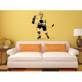 Samolepka na zeď Hokejista 005