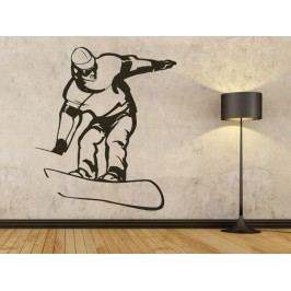 Samolepka na zeď Snowboardista 006