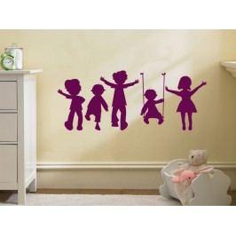 Samolepka na zeď Hravé děti 002