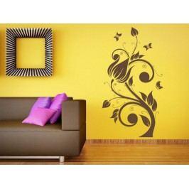 Samolepka na zeď Květiny s motýly 022