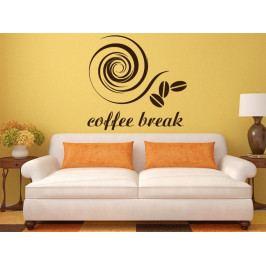 Samolepka na zeď Nápis Coffee break 0042