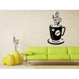 Samolepka na zeď Hrnek kávy 0050