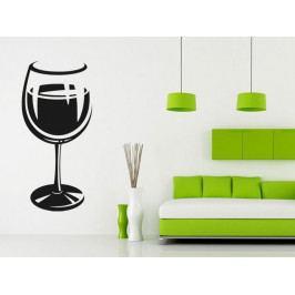Samolepka na zeď Sklenice na víno 0077