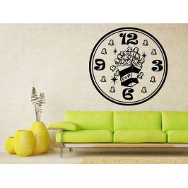 Samolepka na zeď Hodiny popcorn 0128