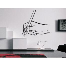 Samolepka na zeď Píšící ruka 0240
