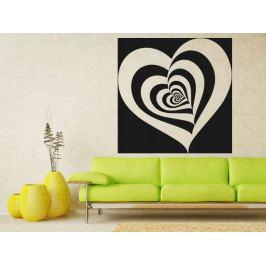 Samolepka na zeď Srdce 0263