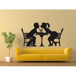 Samolepka na zeď Zamilovaný pár 0309