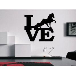 Samolepka na zeď Láska ke koním 0406