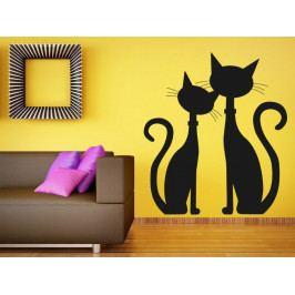 Samolepka na zeď Dvě kočky 0449