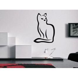 Samolepka na zeď Kočka 0484