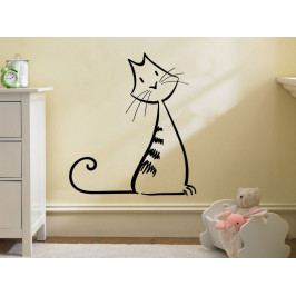 Samolepka na zeď Kočka 0495