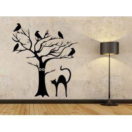 Samolepka na zeď Kočka a strom 0500