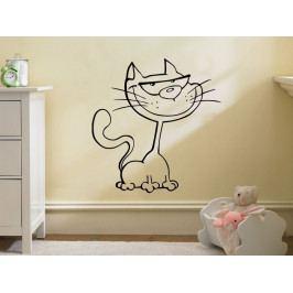Samolepka na zeď Kočička 0519
