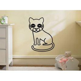 Samolepka na zeď Kočička 0536