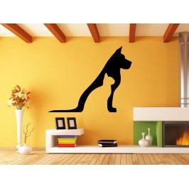 Samolepka na zeď Kočka a pes 0553