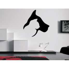 Samolepka na zeď Kočka a pes 0563