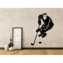 Samolepka na zeď Hokejista 0597