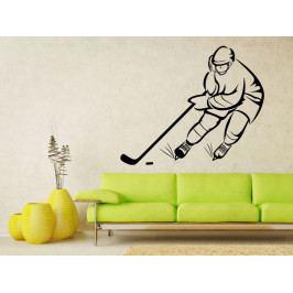 Samolepka na zeď Hokejista 0603