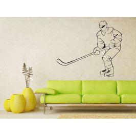 Samolepka na zeď Hokejista 0606