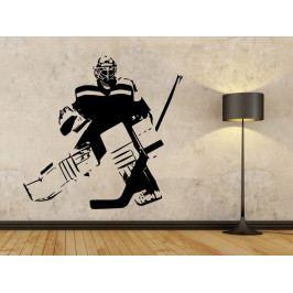 Samolepka na zeď Hokejista 0608
