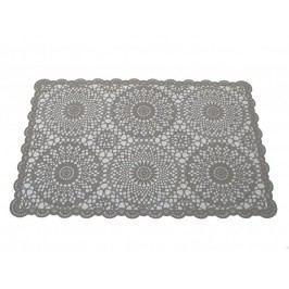 KERSTEN - Set prostírání krajka PVC, šedé, bal/4ks - (DIS-9160.1)