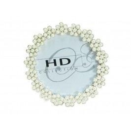 KERSTEN - Fotorámeček s perlami,  9x9cm - (DIS-8764)