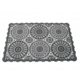 KERSTEN - Set prostírání krajka PVC, černé, bal/4ks - (DIS-9160.2)