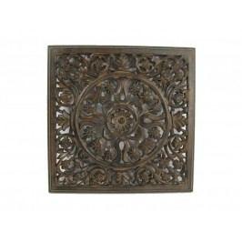 KERSTEN - Nástěnná dekorace HANDMADE, hnědá, 38x1,6x38cm - (LEV-3034)