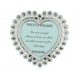 KERSTEN - Fotorámeček srdce  7,7x7,5cm, stříbrný - (LEV-9084)