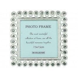 KERSTEN - Fotorámeček 7,5x7,5cm, stříbrný - (LEV-9085)