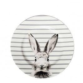 Bastion collections - Talíř 19cm, Rabbit/šedé pruhy - (RJ-DE-RABBIT-STRIP)