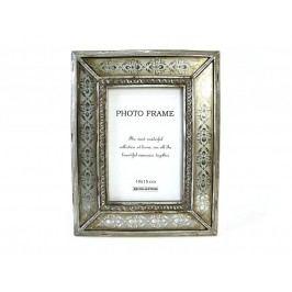KERSTEN - Fotorámeček se zrcadl,rámem, stříbrný 10x15cm - (LEV-7035)