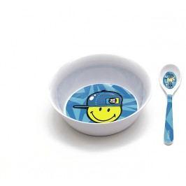 ZAK! designs - Smiley snídaňový set, modrý, melamin (6705-2301)