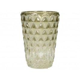 KERSTEN - Svícen skleněný, champagne 8x8x11cm - (LEV-5189)