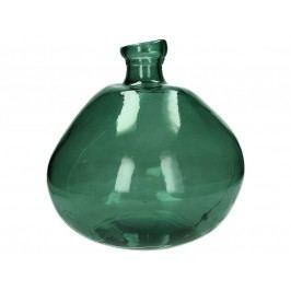 KERSTEN - Váza z recyklovaného skla, zelená 33x33x33cm - (LEV-4619)