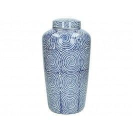 KERSTEN - Váza porcelánová, modrá 20x20x36cm - (WER-0338)