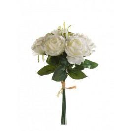 Emerald květiny - Vazba růže krémové, 6 stonků, 30cm (417487)