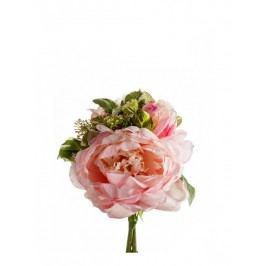 Emerald květiny - Vazba pivoňka růžová, kopr, 20cm (418299)